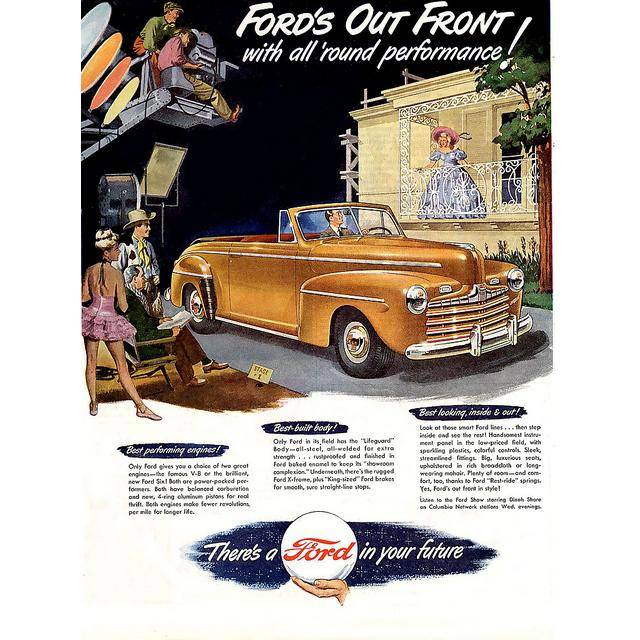 Ford As An Advertisement Legend 61 Vintage Ads on 1947 car ads