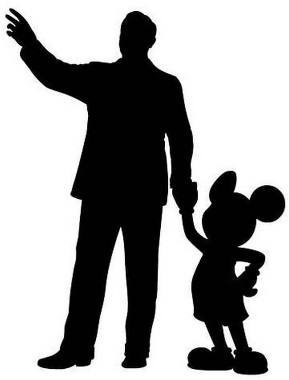 Disney Mickey Silhouettes Walt disney with mickey mouse