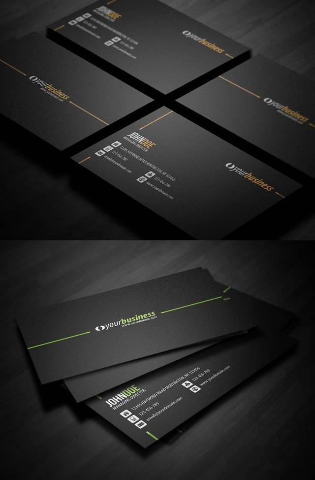30 Outstanding Black Business Cards