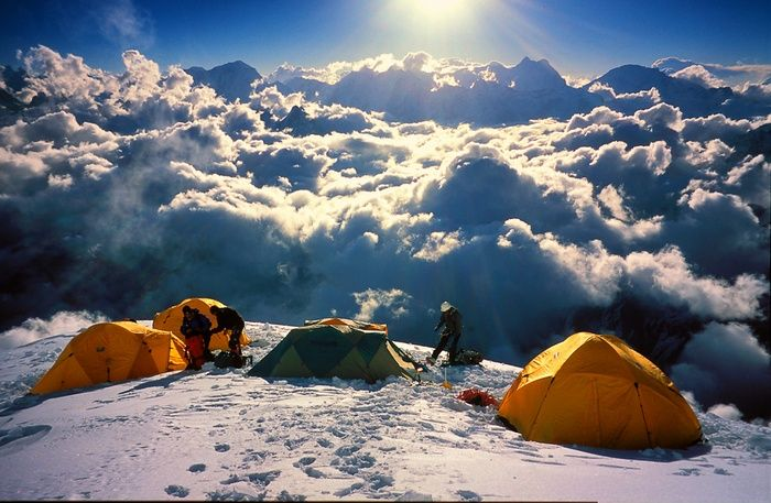above the clouds from camp3
