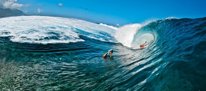 Images from Keith Malloy's bodysurf film Come Hell or High Water.