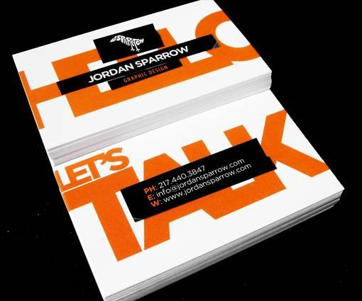 Sticker-Look Business Card